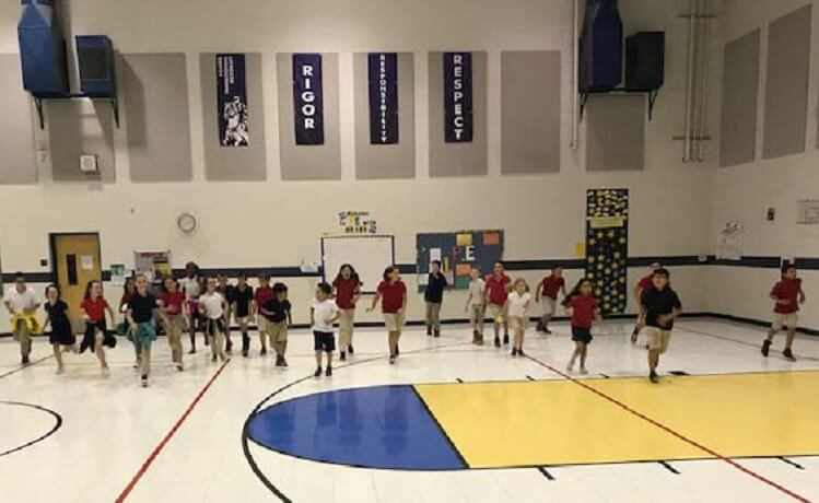 Combs Traditional Academy Students Work on Improving Endurance